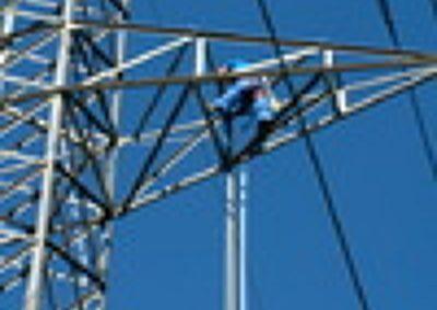 Coordinación en seguridad y salud de trabajos de altura para líneas de Alta Tensión
