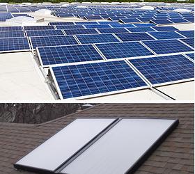 Diferencia entre los paneles solares térmicos y los paneles fotovoltaicos