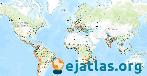 Atlas interactivo de los conflictos ambientales del mundo.