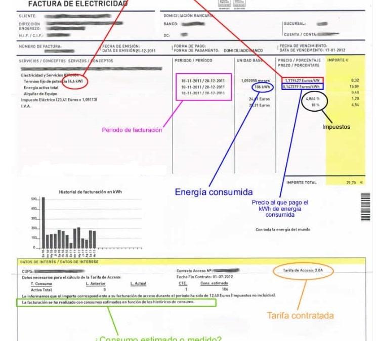 Cálculo de la factura eléctrica